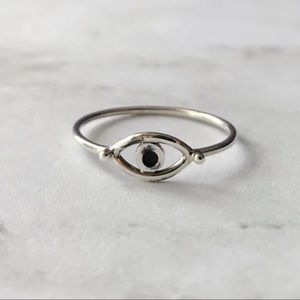 Jewelry - Sterling Silver Evil Eye Stacking Ring
